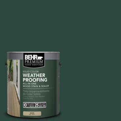 BEHR Premium 1 gal. #SC-114 Mountain Spruce Solid Color Weatherproofing All-In-One Wood Stain and Sealer