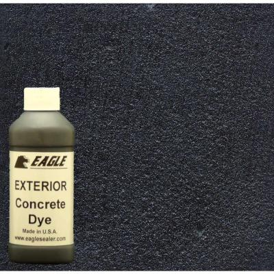 Eagle 1-gal. Midnight Exterior Concrete Dye Stain Makes with Acetone from 8-oz. Concentrate