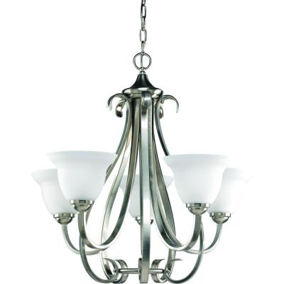Progress Lighting Torino Collection 5-Light Brushed Nickel Chandelier
