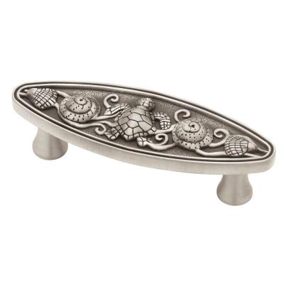 Liberty seaside cottage 3 in 76mm brushed satin pewter - Home depot kitchen cabinet pulls ...