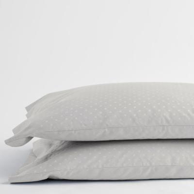 Legends Luxury Dot 500-Thread Count Cotton Sateen Pillowcase (Set of 2)