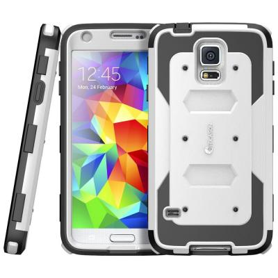 i-Blason Galaxy S5 Armorbox Series Full-Body Case with Screen Protector, White