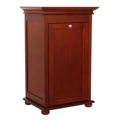 Home Decorators Collection Hampton Bay Tilt-out Hamper Single 17 In. W in Hazel Brown-DISCONTINUED