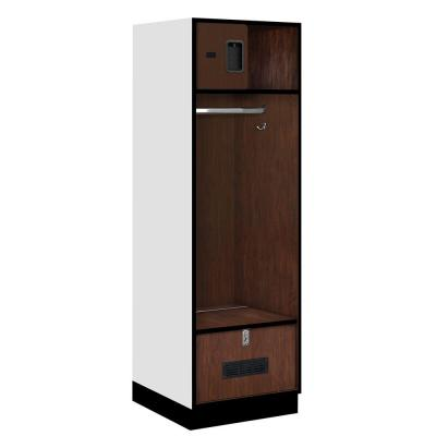 Salsbury Industries 30000 Series 24 in. W x 76 in. H x 24 in. D Open Access Designer Wood Locker in Mahogany
