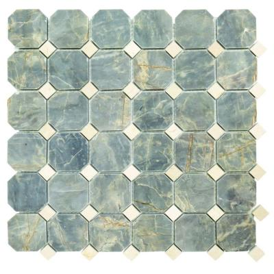 Union 12-1/4 in. x 12-1/4 in. x 9.5 mm Marble Mosaic