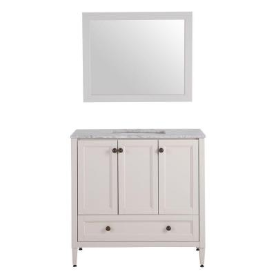 Claxby 36.5 in. W x 19 in. D Vanity in Cream