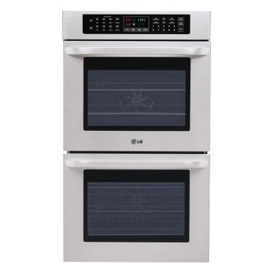 LG Electronics 30 in. Double Electric Wall Oven Self-Cleaning with Convection in Stainless Steel