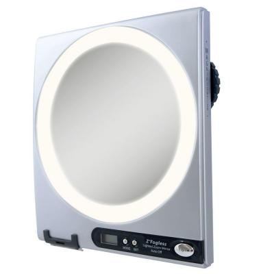 Zadro Fogless LED Lighted Shower Mirror in Silver