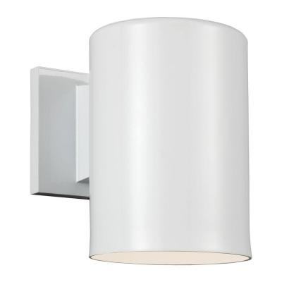 Outdoor Bullets 1-Light White Outdoor Wall Fixture Product Photo