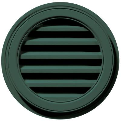 18 in. Round Gable Vent in Forest Green Product Photo