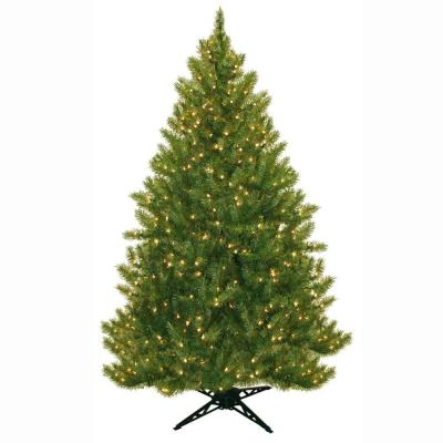 General Foam 6.5 ft. Pre-Lit Carolina Fir Artificial Christmas Tree with Clear Lights