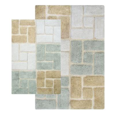 Chesapeake Merchandising Berkeley 21 in. x 34 in. and 24 in. x 40 in. 2-Piece Bath Rug Set in Spa