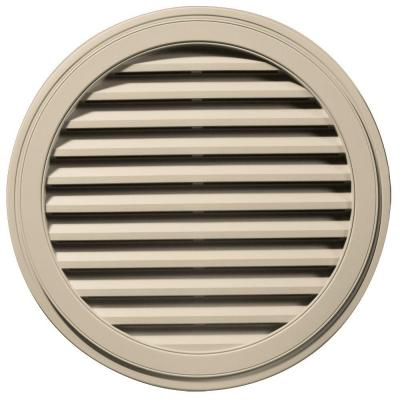 36 in. Round Gable Vent in Almond Product Photo