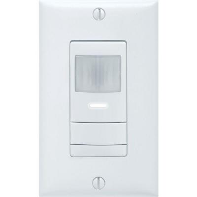 Dual Detection Occupancy 1-Pole Wall Switch Sensor - White Product Photo