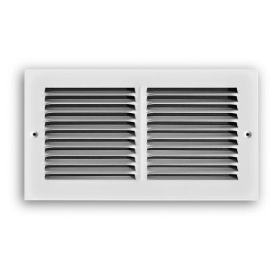 TruAire 12 in. x 6 in. White Return Air Grille