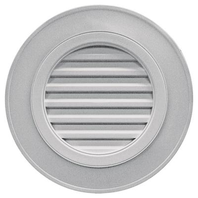 28 in. Round Gable Vent in Gray (without Keystones) Product Photo