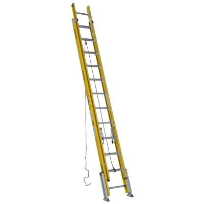 24 ft. Fiberglass D-Rung Leveling Extension Ladder with 375 lb. Load