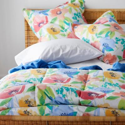 Terrace Floral LoftHome 250-Thread Count Cotton Percale Comforter