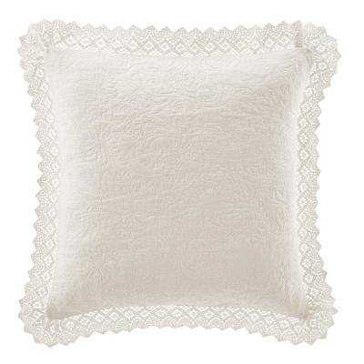 La Solid Crochet Cotton Pillow Sham (Set of 2)