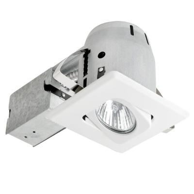 4 in. White Recessed Lighting Kit with Swivel, Square Shape and Spot Light Product Photo