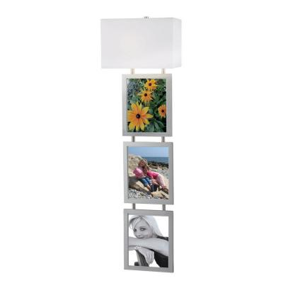 Kenroy Home Studio 1-Light 45 in. Brushed Steel Photo Frame Wallchiere 32018BS
