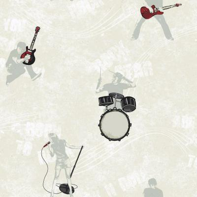 York Wallcoverings 56 sq. ft. Rocker Silhouettes Wallpaper-DISCONTINUED