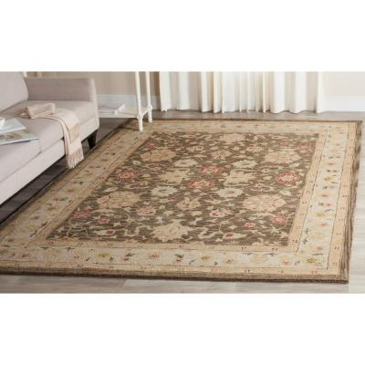 Antiquity Olive Grey/Beige 7 ft. 6 in. x 9 ft. 6