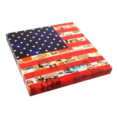 Onsia 24 in. x 24 in. US Flag Museum Wall Art with Wrap Speaker
