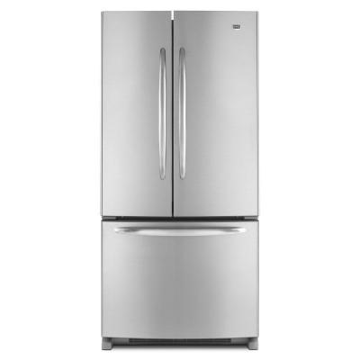 Maytag 33 in. W 21.7 cu. ft. French Door Refrigerator in Monochromatic Stainless Steel-DISCONTINUED