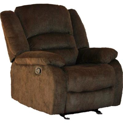 Funky Pineapple Fabric Rocking Recliner Chair in Dark Brown