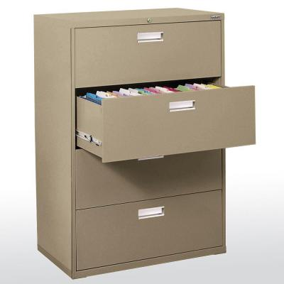 Sandusky 600 Series 36 in. W 4-Drawer Lateral File Cabinet in Tropic Sand