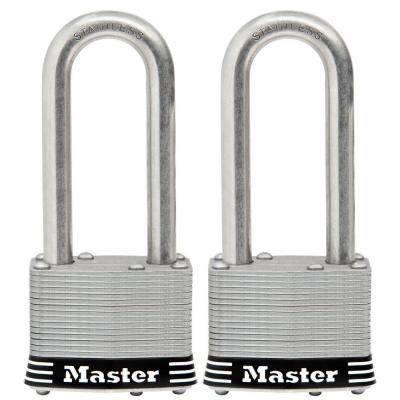 2 in. Laminated Stainless Steel Keyed Padlock with 2-1/2 in. Shackle