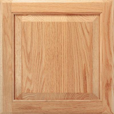 American Woodmark 14-9/16x14-1/2 in. Cabinet Door Sample in Charlottesville Oak Natural-DISCONTINUED