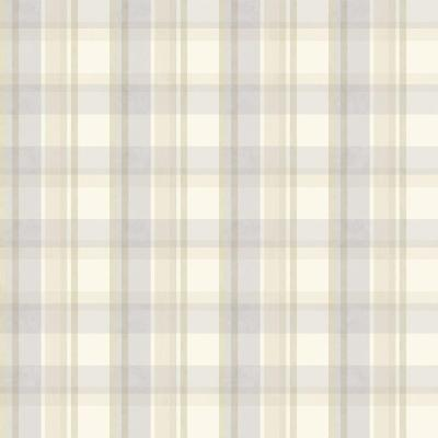 8 in. x 10 in. Bennetts Purple Sunday Plaid Wallpaper Sample