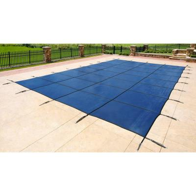 14 ft. x 28 ft. Rectangular Blue In-Ground Pool Safety Cover Product Photo
