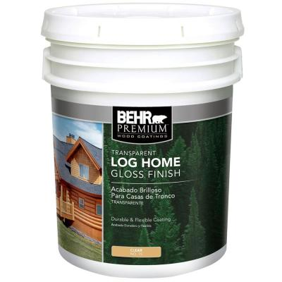 BEHR 5-Gal. Clear Gloss Water Log Home Finish