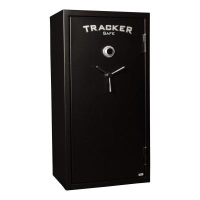 Tracker Safe 24-Gun Fire-Resistant Combination/Dial Lock, Black Powder Coat