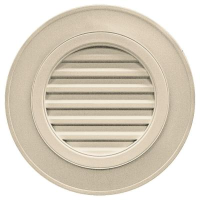 28 in. Round Gable Vent #049 Almond (without Keystones) Product Photo