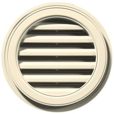 18 in. Round Gable Vent #020 Cream Product Photo