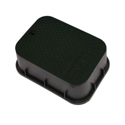 DURA 12 in. x 17 in. x 6 in. Deep Rectangular Valve Box in Black Body Black Lid