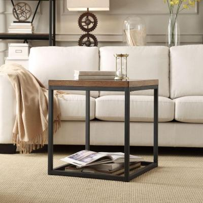 HomeSullivan Touchard Brown End Table