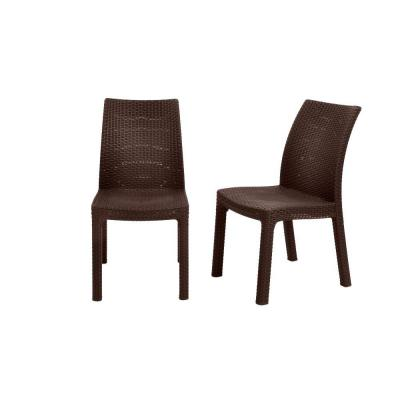 null Keter Milan Brown Patio Dining Chairs (Set of 2)