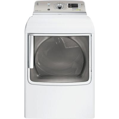 GE 7.8 cu. ft. Gas Dryer with Steam in White