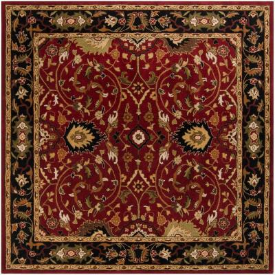 John Red 8 ft. Square Area Rug