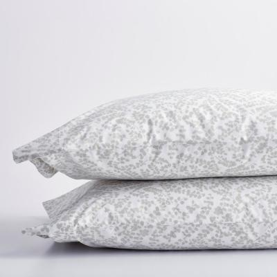 Baby's Breath Botanical 300-Thread Count Organic Cotton Percale Pillowcase (Set of 2)
