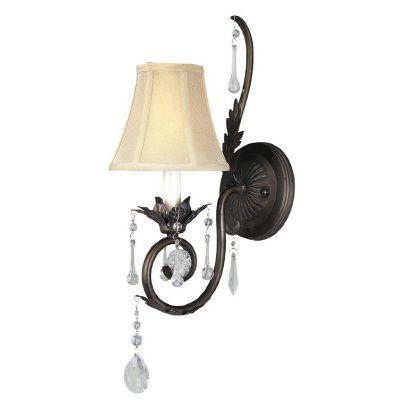 square 1 light weathered bronze wall sconce wi75462 the home depot. Black Bedroom Furniture Sets. Home Design Ideas