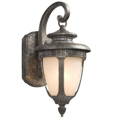 Negron 1-Light Outdoor Antique Silver Wall Lantern