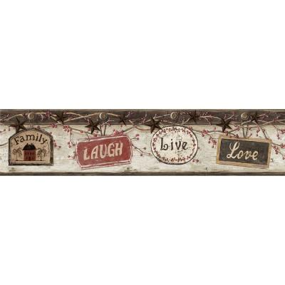 5.6 in. Kinsey Black Live Laugh Love Border Product Photo