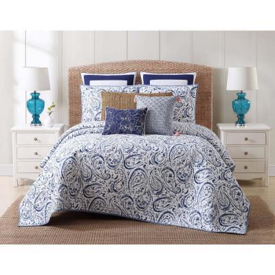 Indienne Blue Paisley Quilt Set