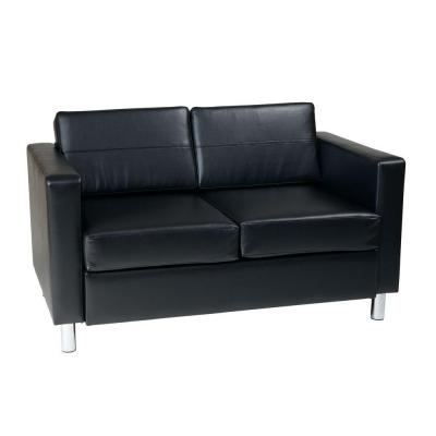 Pacific Fabric Loveseat in Black Product Photo